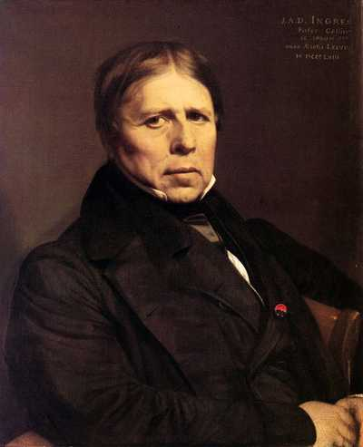 Self-portrait, 1858 by Jean-Auguste-Dominique Ingres, Uffizi Gallery, Florence
