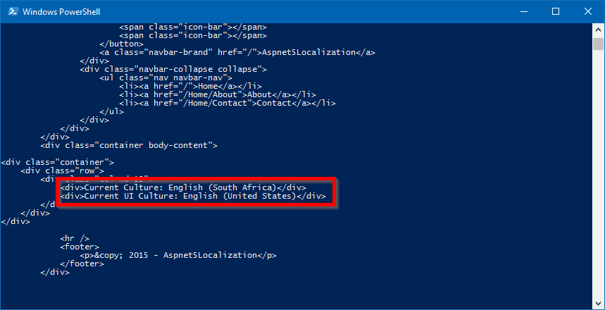 powershell curl default