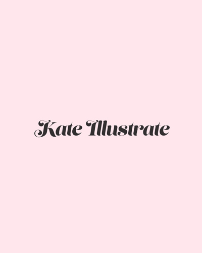 Logo idea for Kate Illustrate, designed by Jack Watkins at Jack's Creative Studio
