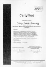 Certyfikat SWPS
