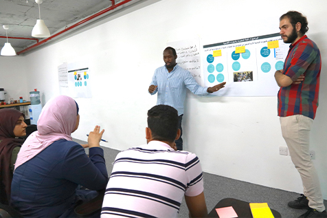 Refugees co-designing the course