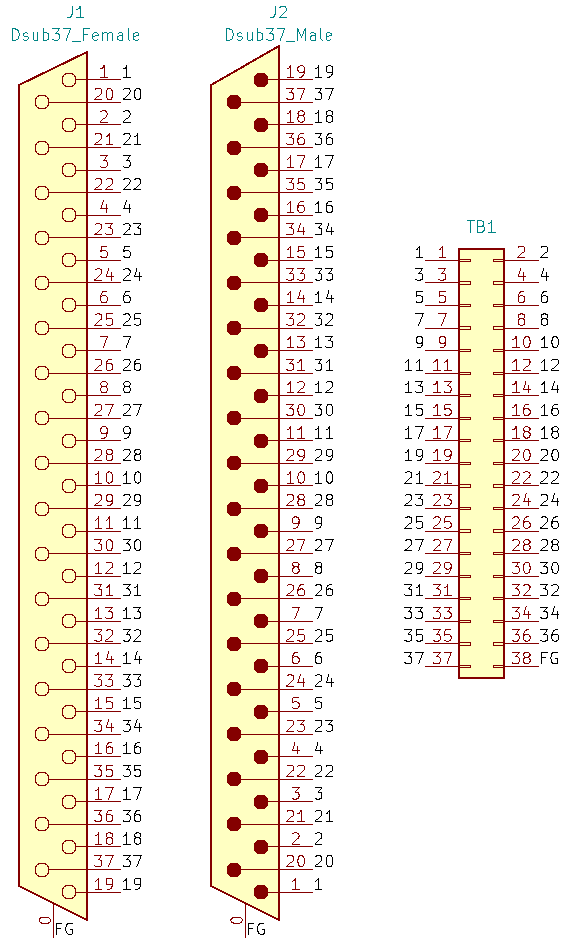 DC37MF-TB2X19の回路図