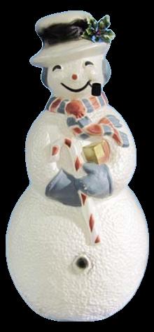 Victorian Burgundy Snowman photo