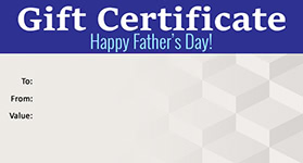 Gift Certificate Father's Day 04