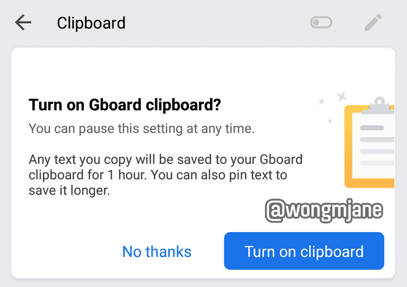 gboard clipboard nux