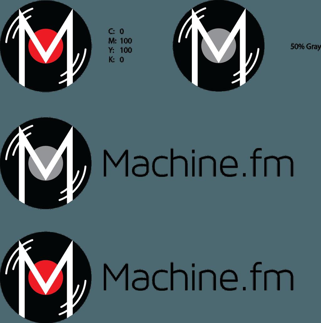 Logo specimens for The Machine
