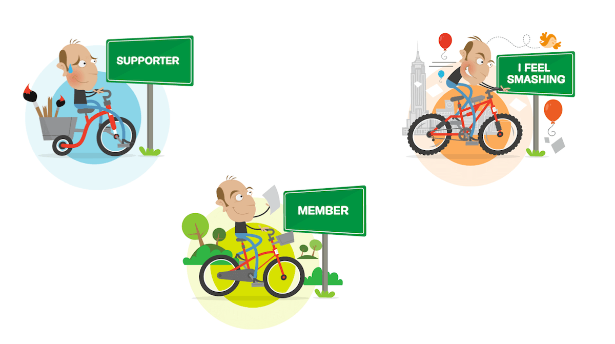 The (old) Smashing membership illustrations.