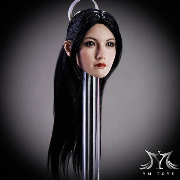YM Toys YMT08 1/6 Scale Fang Hu Female Head Sculpt (Straight Hair)