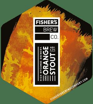 Fisher's Chocolate Orange Stout pump clip
