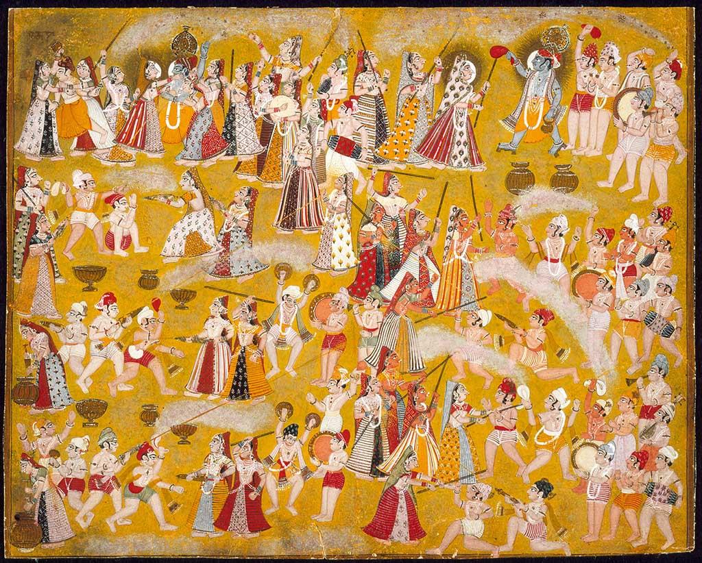 Krishna and Radha Celebrating the Holi Festival
