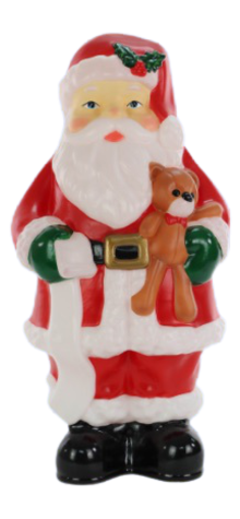 Santa With Teddy Bear photo