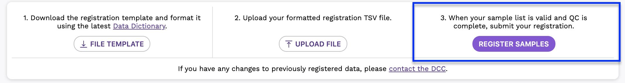 Register Samples
