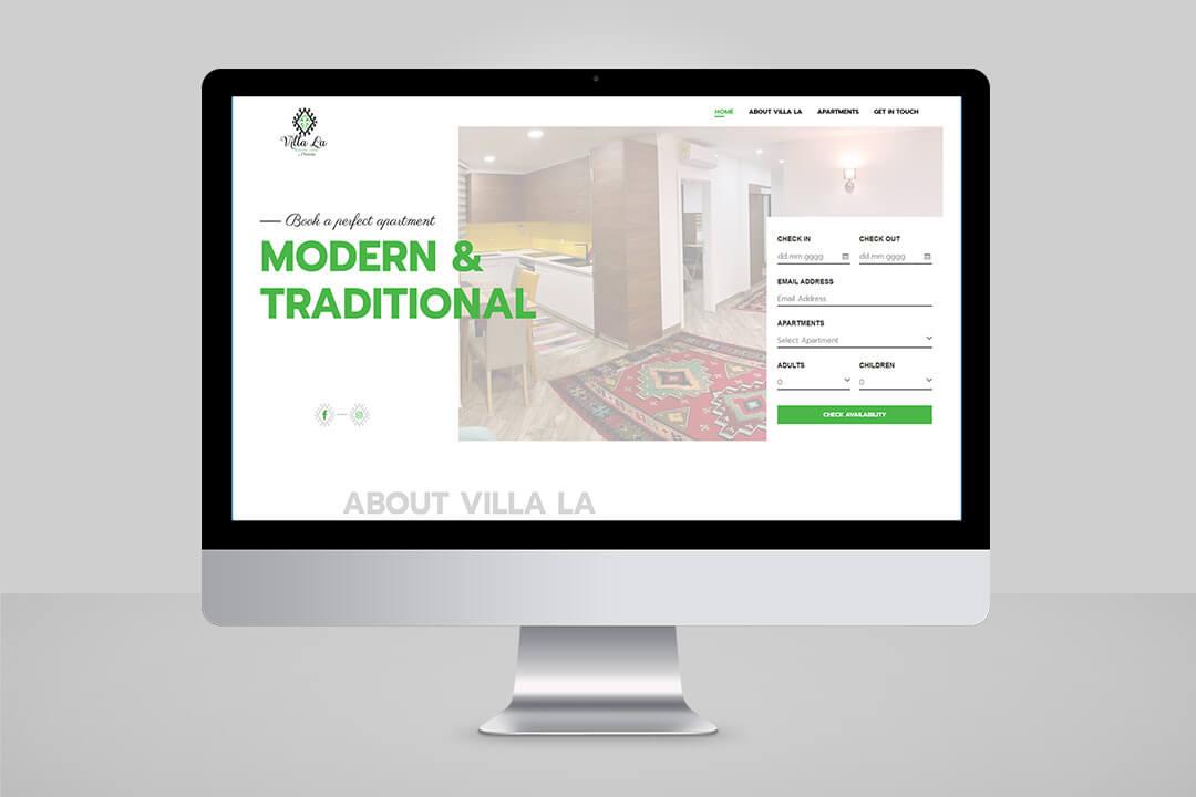 Project Villa La - Apartments, Website Design, Programming