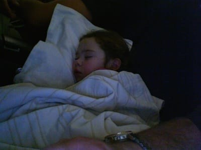 Andrea Sleeping On Plane