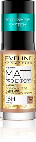 EVELINE MATT PRO EXPERT hosszantartó mattító alapozó NO.400 meleg bézs 30 ml
