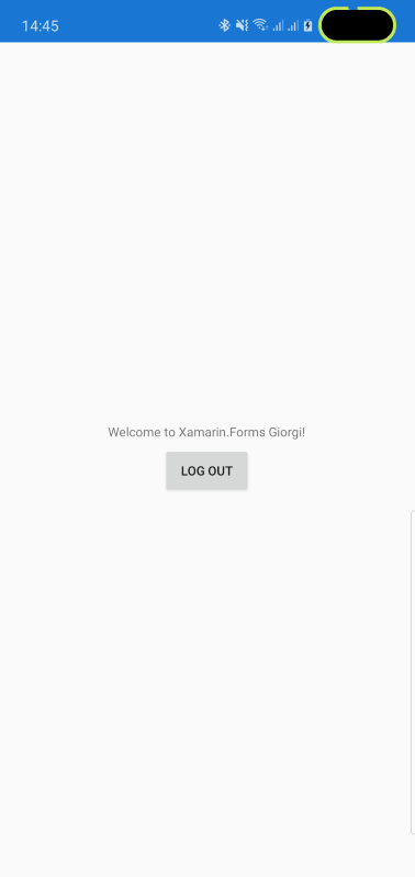 Run Xamarin app final