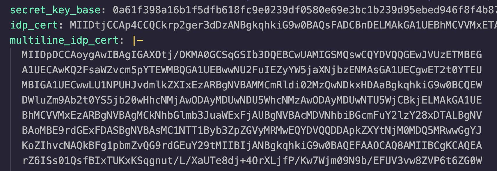 Rails credentials example