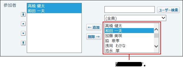 ユーザー選択画面の画像