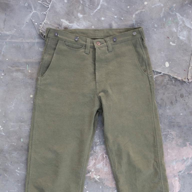 Army green fisherlady pant