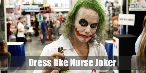One of the most iconic scene of Joker in The Dark Knight is when he disguised as a female nurse, skipping merrily away down the street of the Gotham General Hospital, while it explodes with the bombs he'd plant.