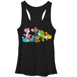 Mario Group of Yoshi - Racer Back Tank
