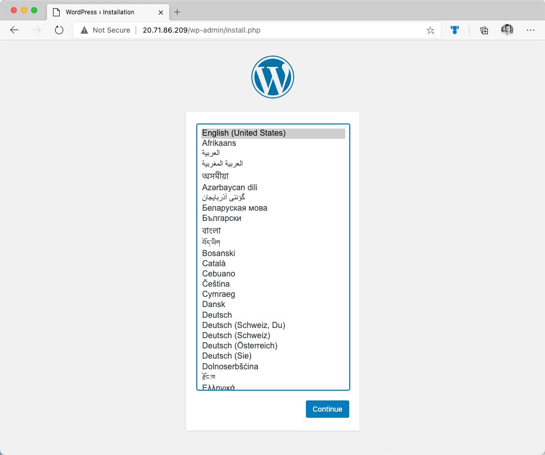 WordPress with MySQL in ACI