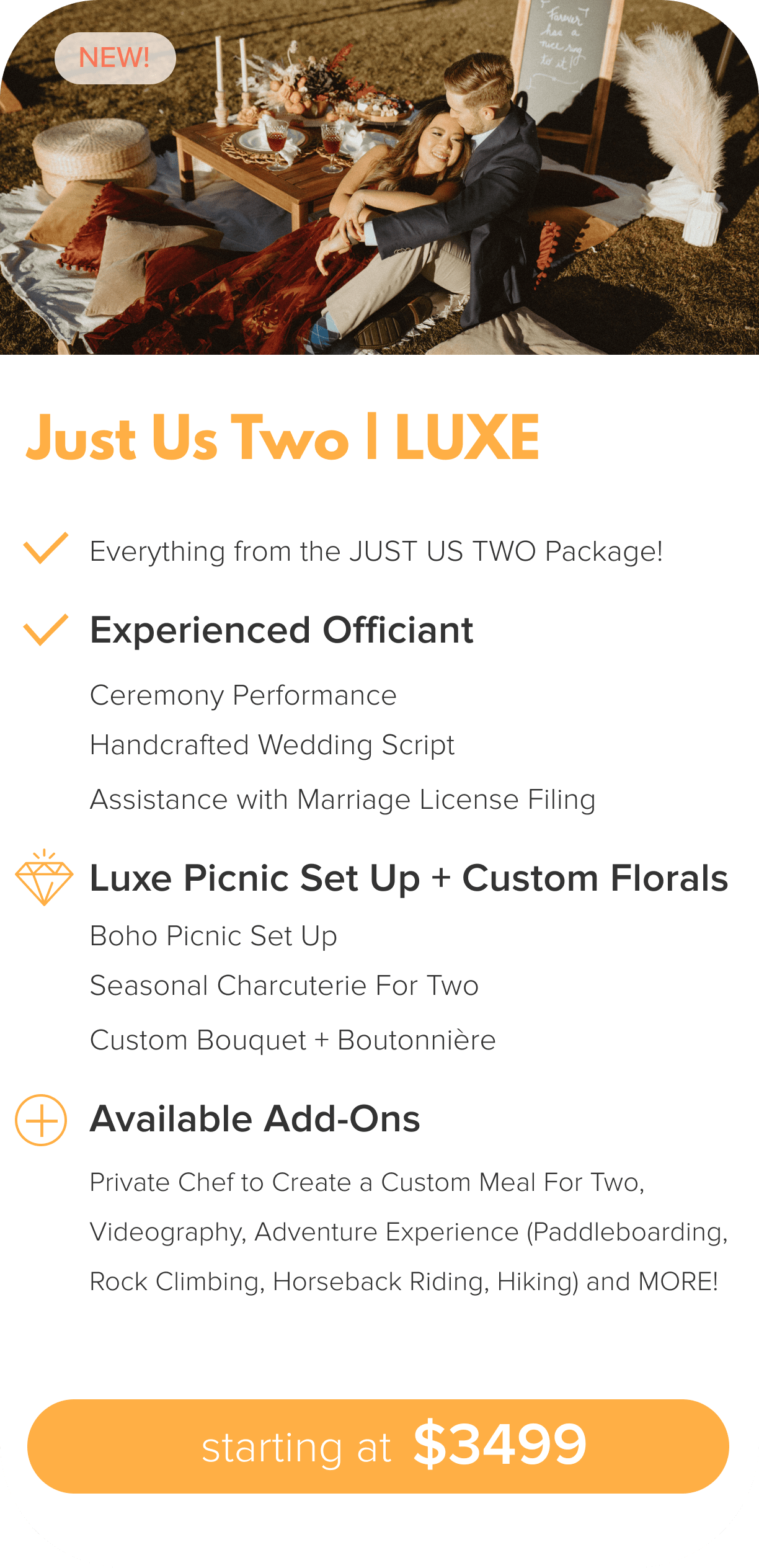 Just Two Lux Package