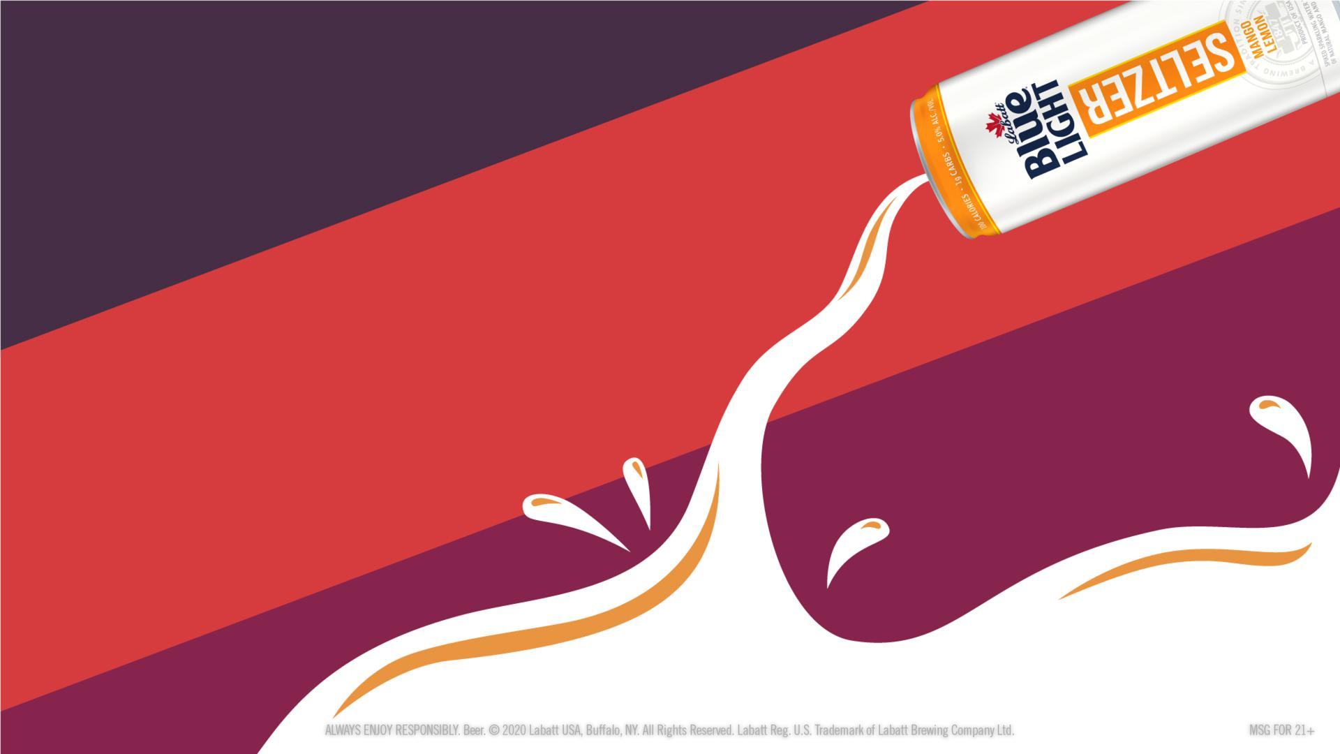 Labatt Seltzer Mango Lemon Pouring Illustration