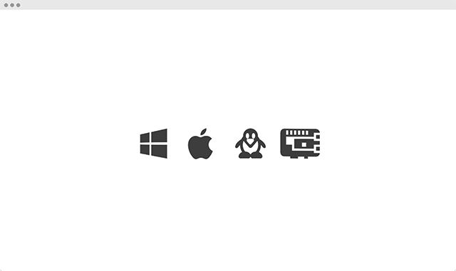 Runs on Windows, Linux, macOS and ARM