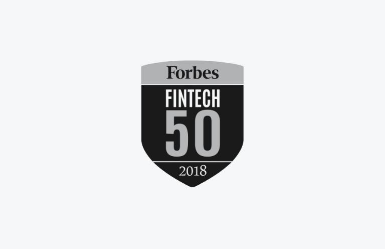 Forbes Fintech 50 2018 logo