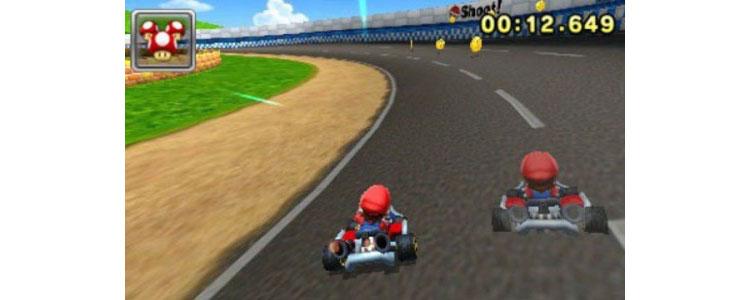 Screenshot of Super Mario Ghost Car.