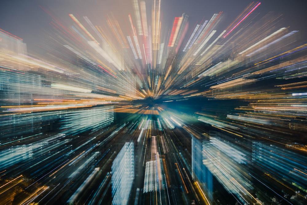 A blurred city