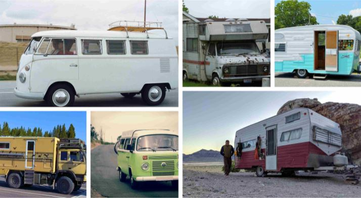 6 different types of recreational vehicles