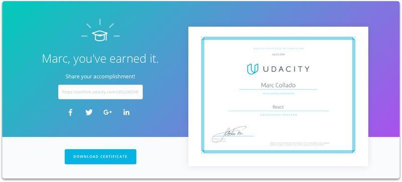 Marc Collado' personal website — Udacity React Developer