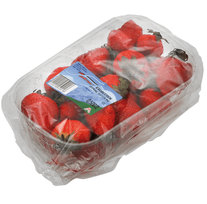 Thin plastic food packaging