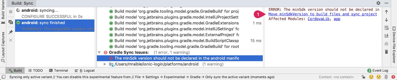 Android Studio Sync error