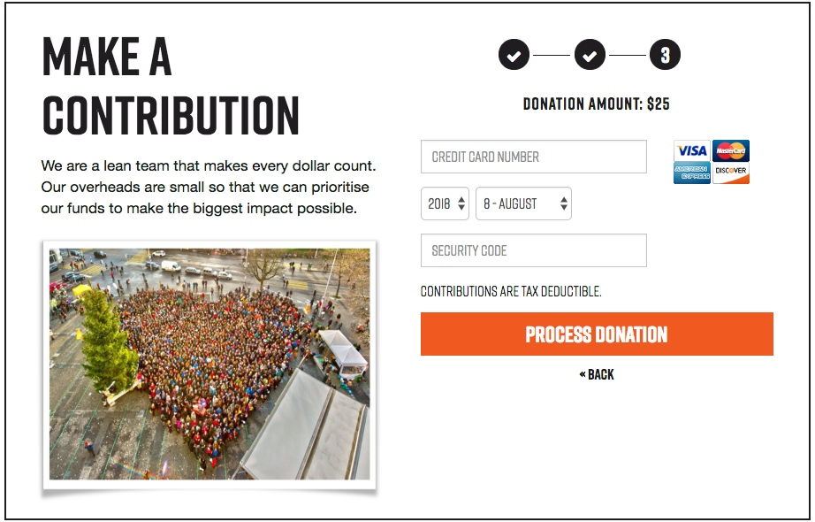 Show donation amount on each step of the donation process in NationBuilder