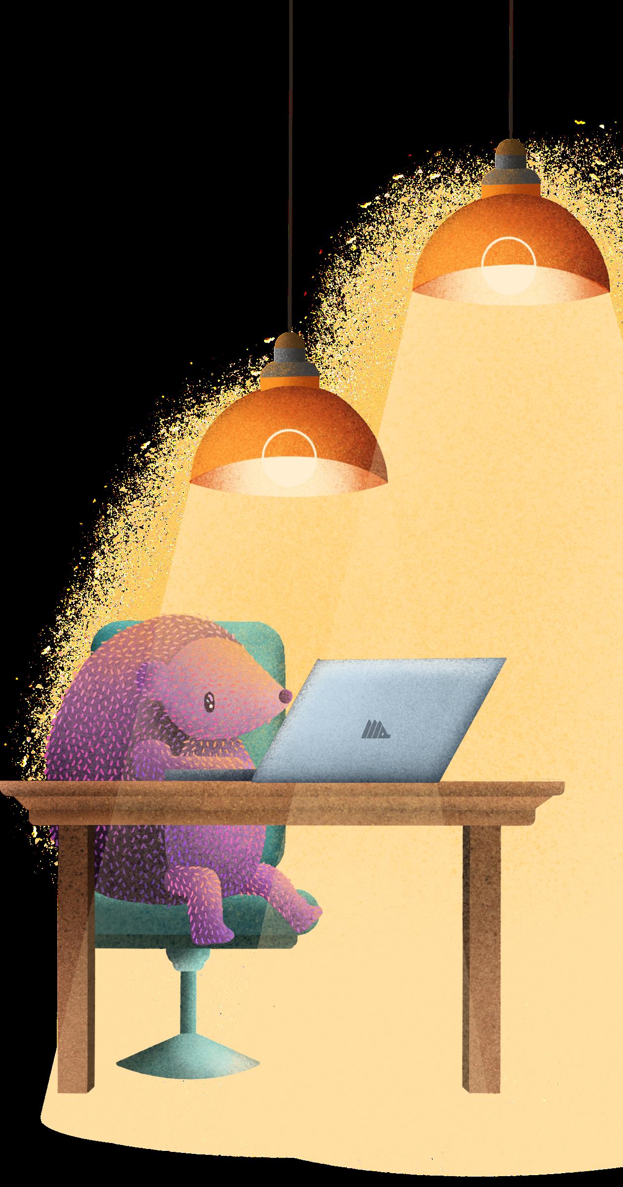 PostHog - Working Hedgehog