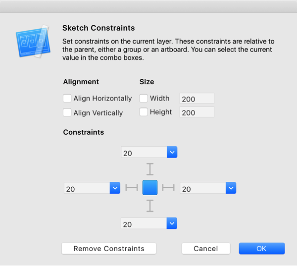 Sketch Constraints