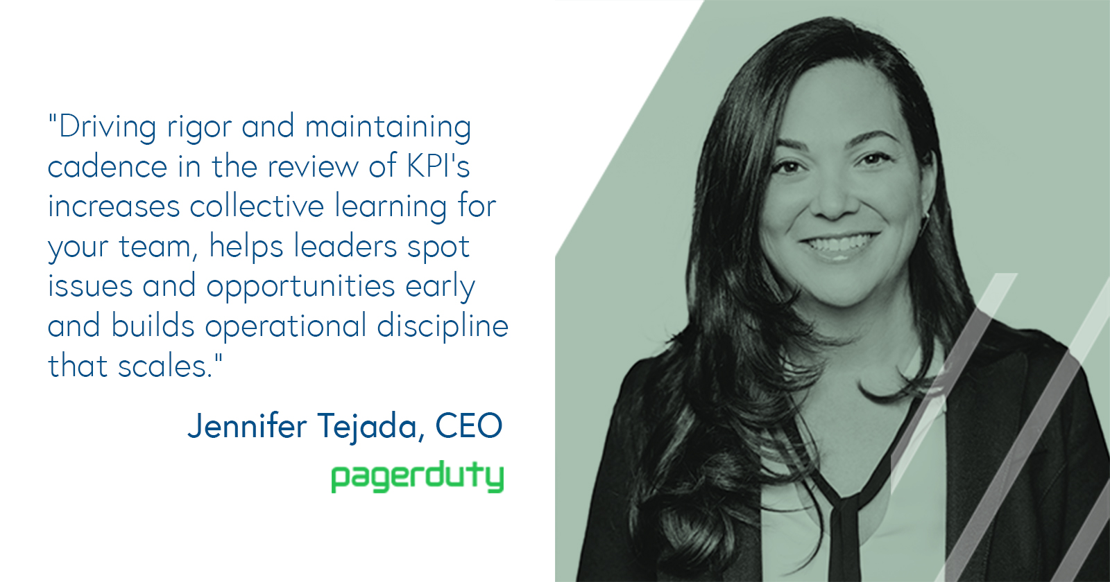 Jennifer Tejada, CEO of PagerDuty on KPI check-ups and metrics dashboards