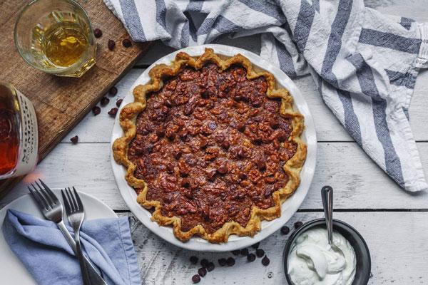 Chocolate Bourbon Walnut Pie