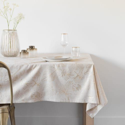 Nappe blanche ourlet biais