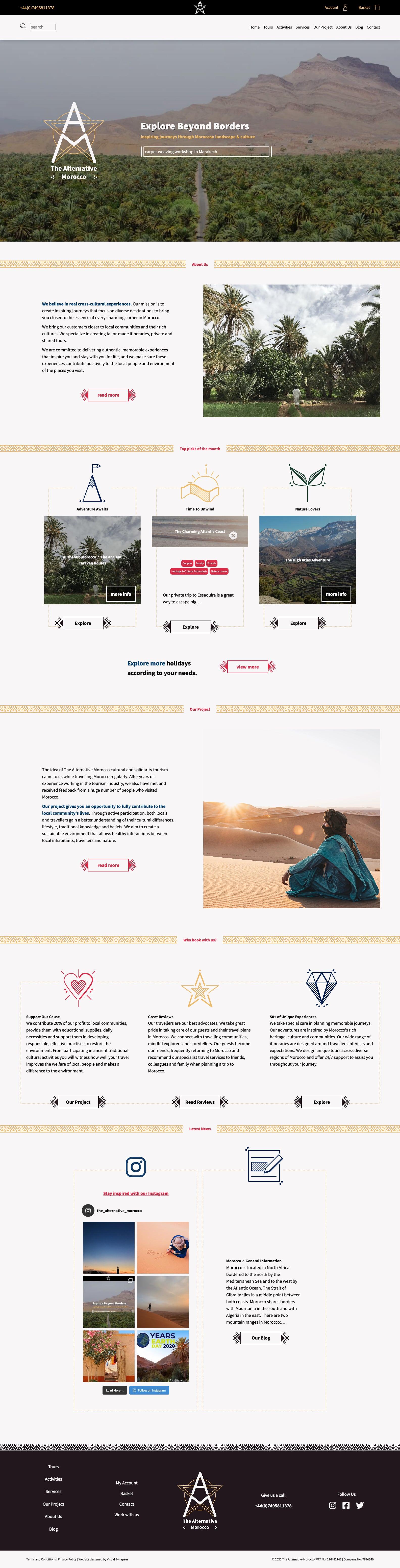 The Alternative Morocco Website Screenshot