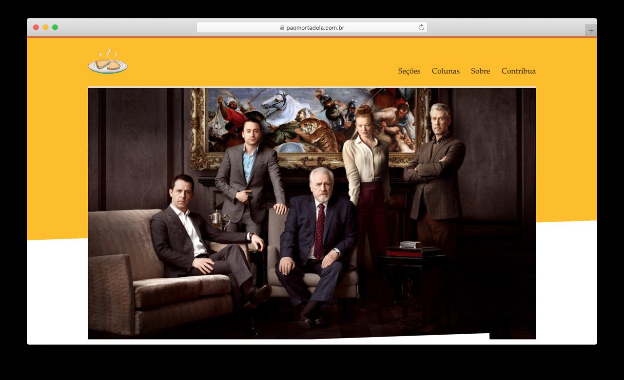 Captura de tela do site Pão com Mortadela