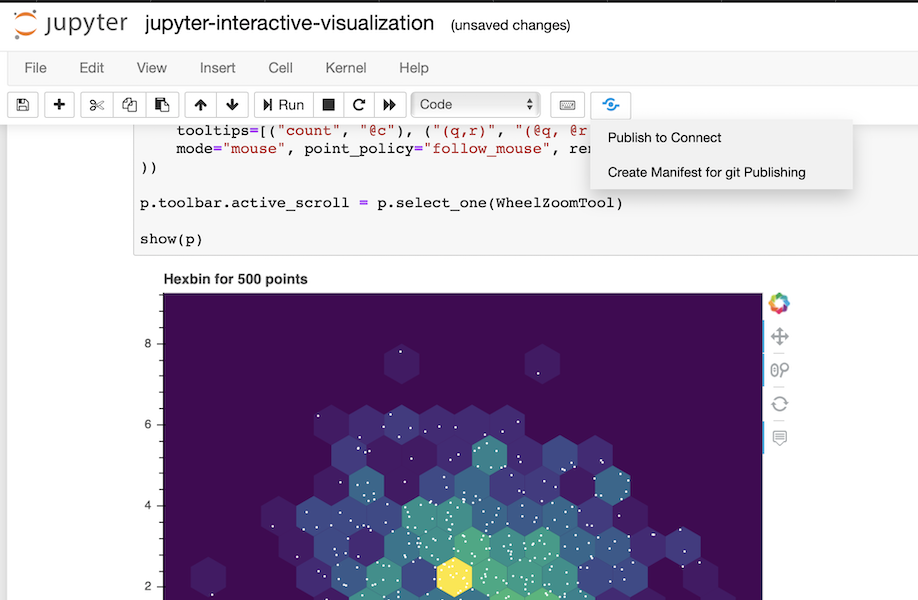Publish Options in Jupyter