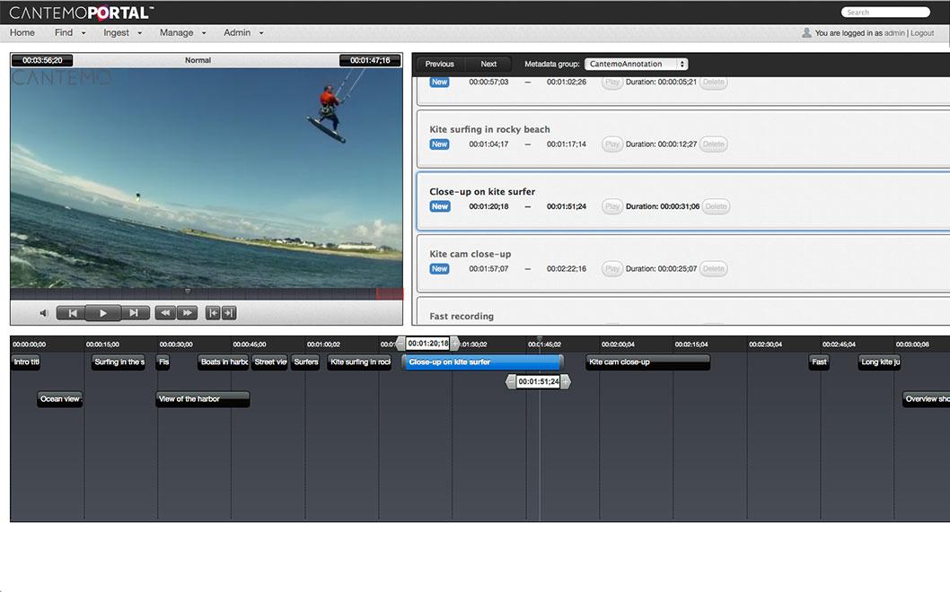 Annotation Tool Cantemo Portal App