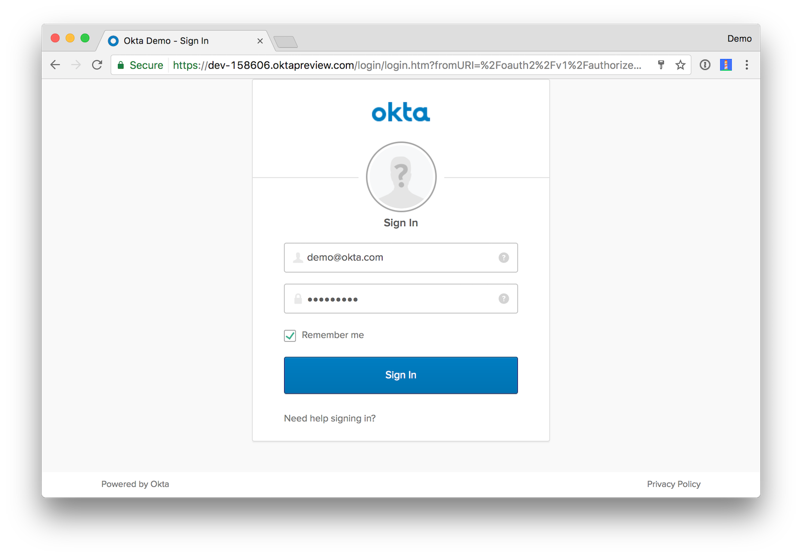 Angular Okta Login
