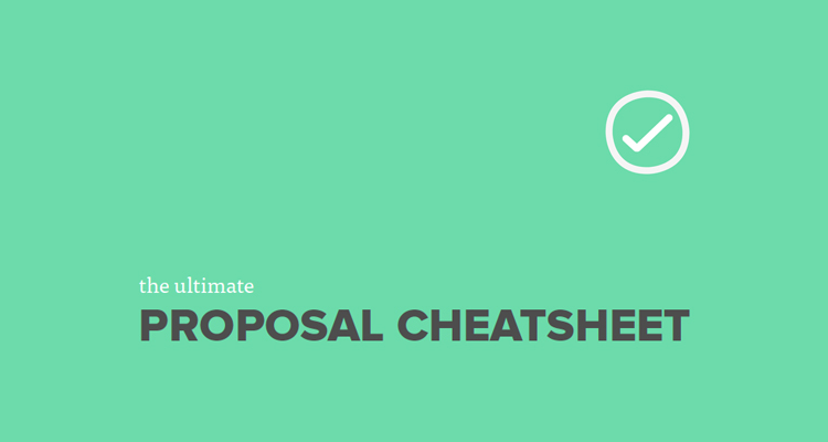 The ultimate proposal cheatsheet
