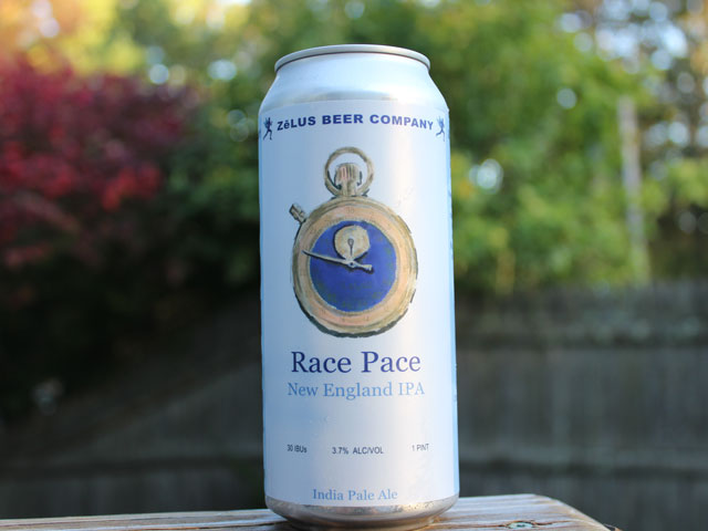 Race Pace, a New England IPA brewed by ZeLUS Beer Company