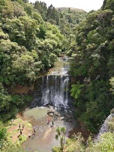 Looking down at Mokoroa Falls